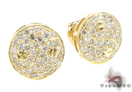 YG Yin & Yang Earrings Stone