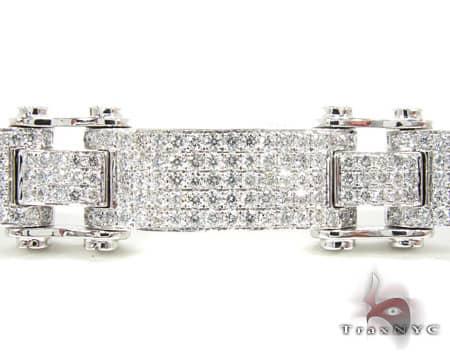 WG Pave Scroll Bracelet Diamond