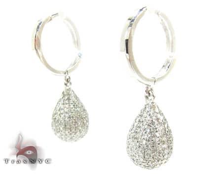 Full Diamond Teardrop Earrings Stone
