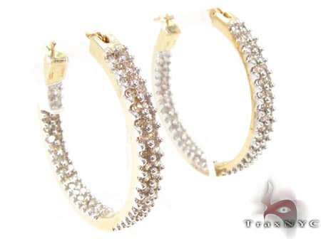 Icicle Diamond Hoops Style