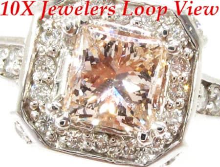 Diamante Pink Princess Ring Anniversary/Fashion