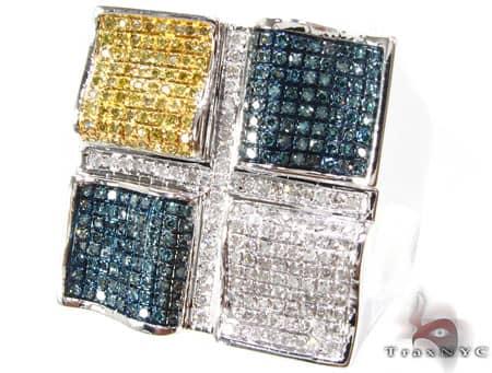 Multi Color Quadrant Ring 2 Stone