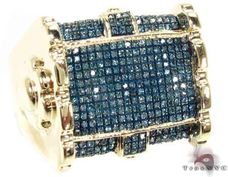 Blue Warfare Ridge Ring Stone