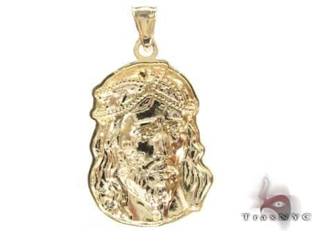 Small Jesus Head Pendant Metal