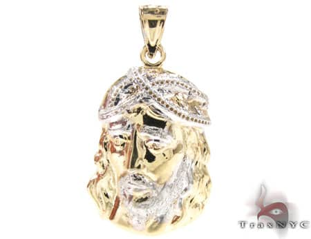 Small Jesus Head Pendant 12651 Metal