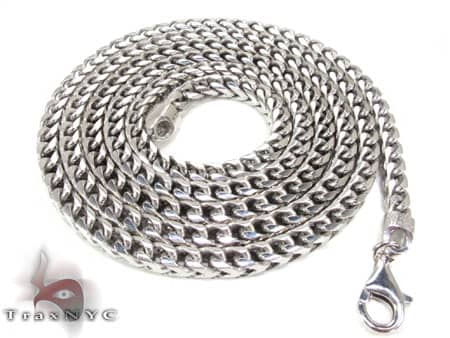 Gold Dipped Silver Franco Chain 30 Inches, 3mm, 60.90 Grams Silver