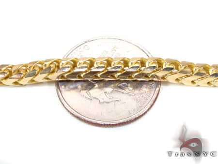 YG Franco Bracelet 9.25 Inches, 4.5mm, 25.5 Grams Gold