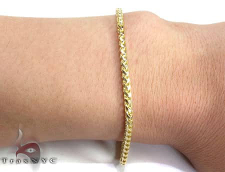 YG Franco Bracelet 8.4 Inches, 2.5mm, 10.4 Grams Gold