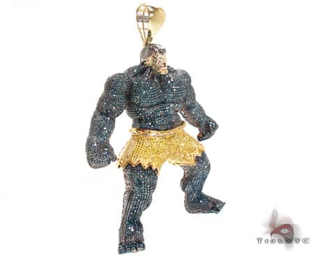 Custom Jewelry - Hulk Pendant Metal
