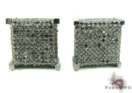 Black Diamond Castle Earrings Stone