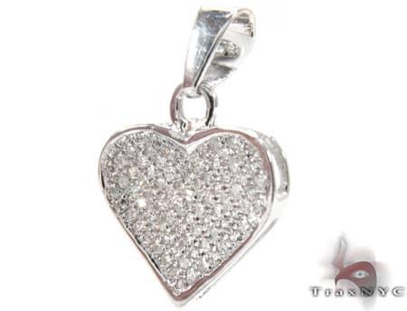 Micro Pave Heart Pendant 2 Stone