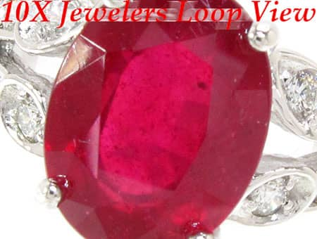 Ladies Ruby Polo Ring Anniversary/Fashion