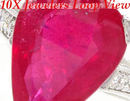 Eccentric Ruby Ring Anniversary/Fashion