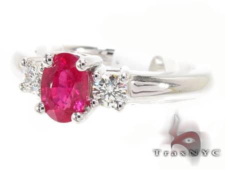 Light Ruby & Diamond Ring Anniversary/Fashion