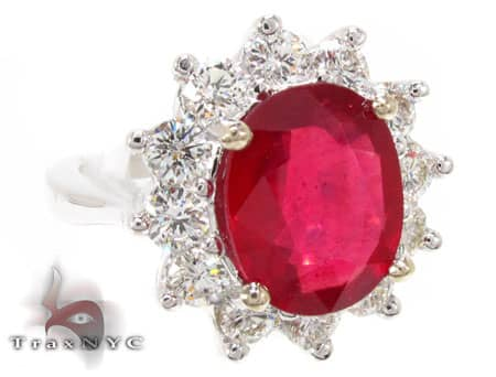 Ruby Flower Ring 2 Anniversary/Fashion