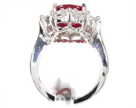 Ruby Flower Ring 2 Anniversary/Fashion