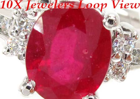 Ruby & Diamond Ring 12846 Anniversary/Fashion