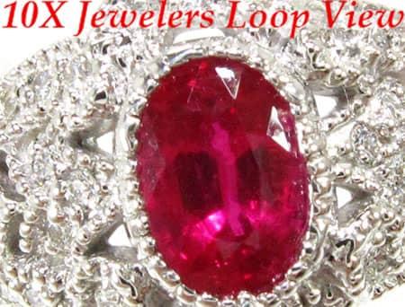 Small Veronica Ruby Ring Anniversary/Fashion