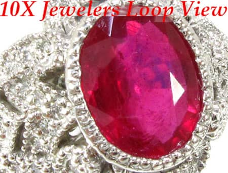 Big Veronica Ruby  Ring Anniversary/Fashion