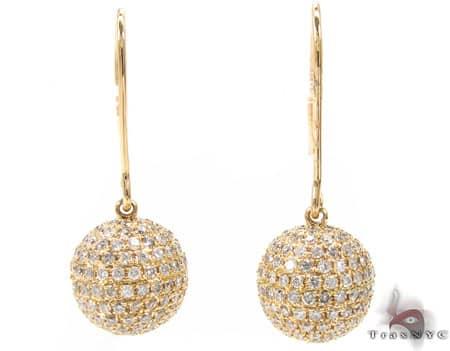 Ladies Sphere Earrings 2 Stone