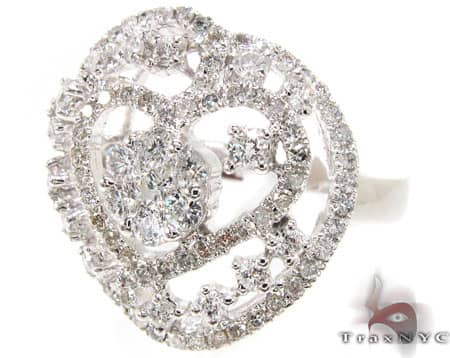 WG Heart Cluster Ring Anniversary/Fashion