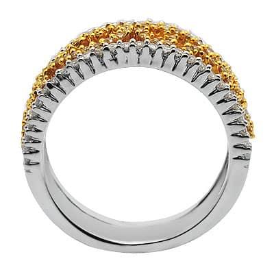 Diamond Right Hand Ring in White Gold Anniversary/Fashion