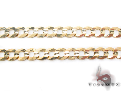 14k Gold Curb Chain 20 Inches 7mm 23.6 Grams Gold