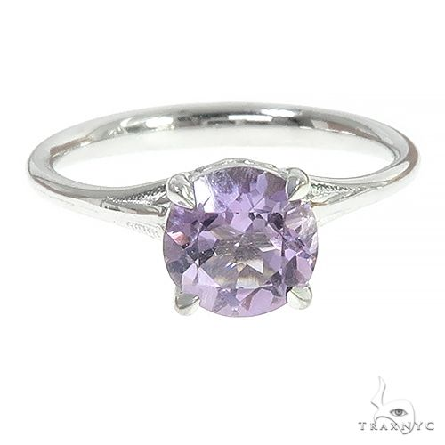 14K Amethyst Solitaire Engagement Ring  66437 Engagement