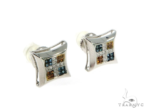 14K Cross Crucifix Diamond Earrings 57387 Stone