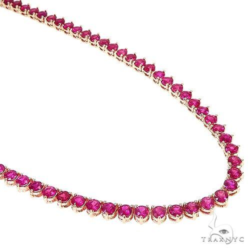 14K Gold 3 Prong Ruby Tennis Chain 66795 Men Specials