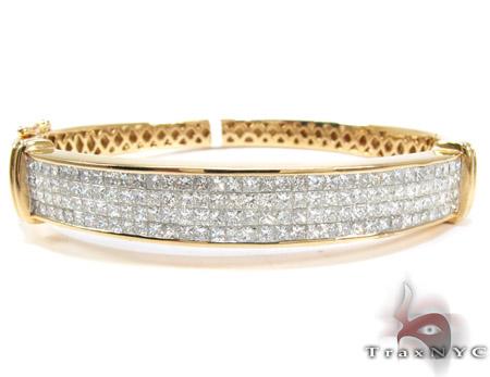 14K Gold 4 Row Diamond Bangle Bracelet 25421 Diamond