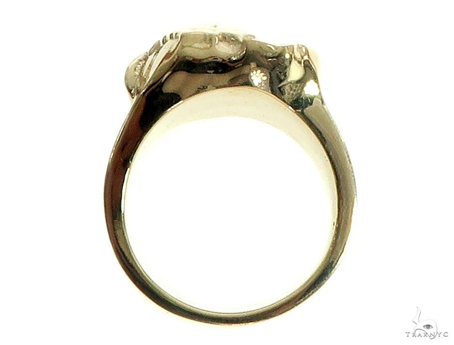 14K Gold African Lion Face Ring 66347 Metal