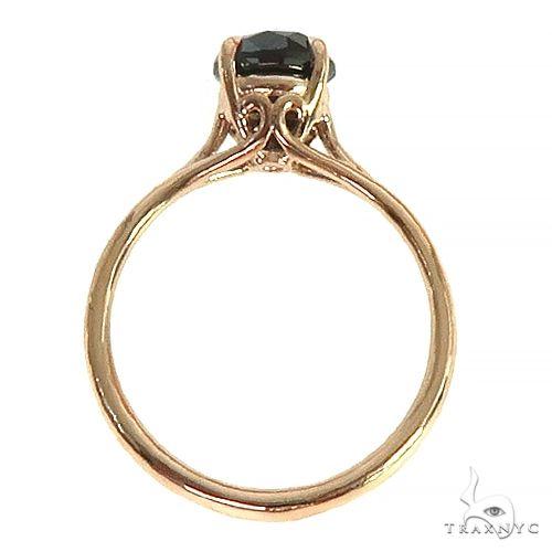 14K Gold Black Diamond Solitaire Engagement Ring 66431 Engagement