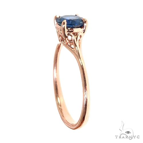 14K Gold Blue Sapphire Solitaire Engagement Ring 66604 Engagement