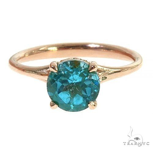 14K Gold Blue Topaz Solitarie Engagement Ring 66433 Engagement