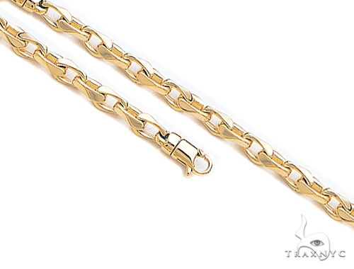 14K Gold Cable Chain 30 Inches 5.6mm 92.8 Grams 41370 Gold