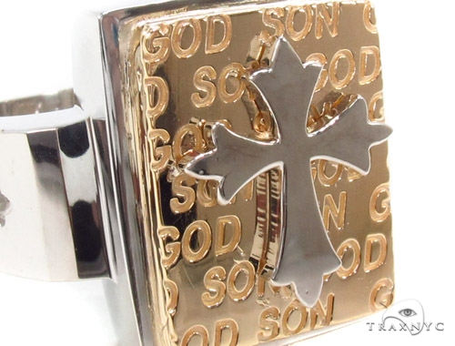 14K Gold Cross Crucifix Ring 35207 Metal