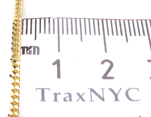14K Gold Cuban Chain 16 Inches, 1.5mm, 3.9 Grams Gold