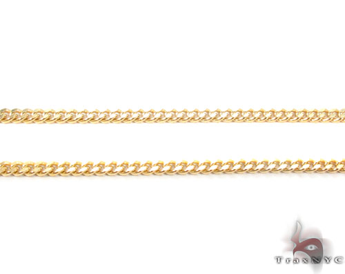14K Gold Miami Cuban Chain 18 Inches, 2mm, 6.9 Grams Gold
