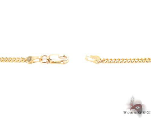 14K Gold Cuban Chain 16 Inches, 2mm, 6.1 Grams Gold