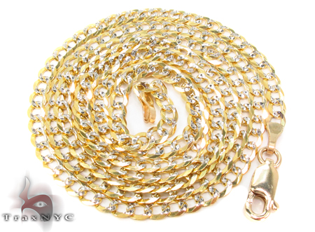 14K Gold Cuban Chain 20 Inches 3mm 6.0 Grams Gold