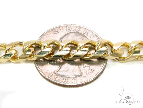 14K Gold Cuban Chain 36 Inches, 7mm, 114.6 Grams Gold