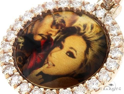 14K Gold Customizable Photo Pendant 0.75 Inch 64797 Style