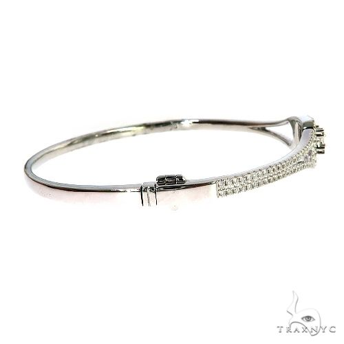 18K Gold Diamond Bangle Bracelet 67023 Bangle