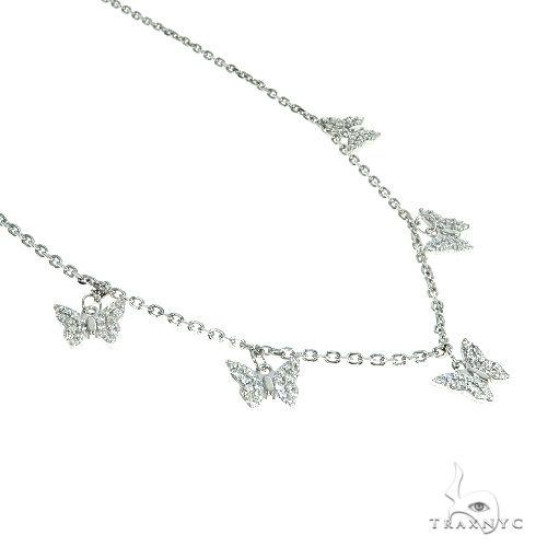 14K Gold Diamond Butterfly Necklace 66444 Diamond