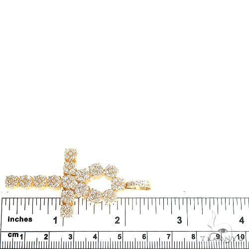 14K Gold Diamond Cross 66865 Diamond