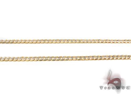 14K Gold Diamond Cut Cuban Chain 18 Inches 2mm 4.1 Grams Gold