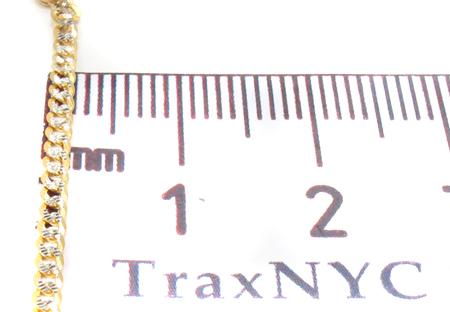 14K Gold Diamond Cut Cuban Chain 20 Inches 2mm 4.0 Grams Gold