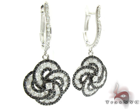 Orchid Diamond Flower Chandelier Earrings 25574 Style