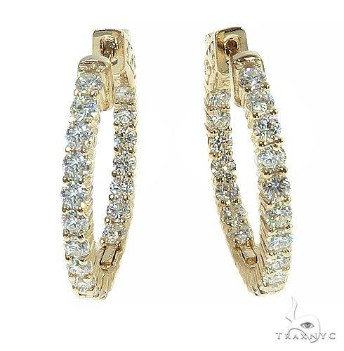 14K Gold Diamond Hoop Earring 66441 Style